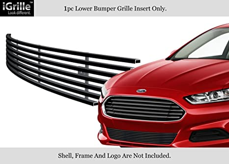 AUTOPA DS7Z-17K945-AB Front Lower Grille with Chrome Trim for Ford Fusion 2013-2016
