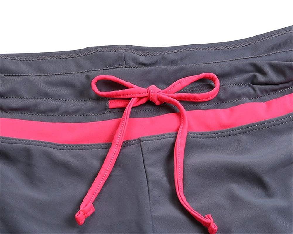 VLUNT HOME Damen Sport Badeshorts Mit Verstellbarem Kordelzug Kausal Baumwolle Stil Unterw/äsche Boxershorts Sommer Gr/ö/ße S M L XL 2XL 3XL
