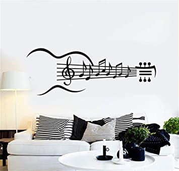 pegatinas de pared baratas Notas musicales Guitarra Instrumentos ...