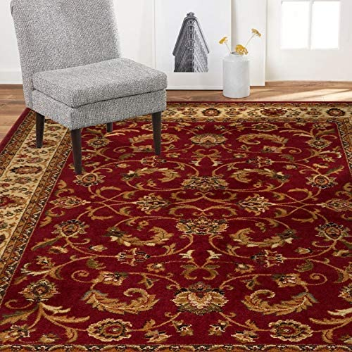 Home Dynamix Royalty Elati Traditional Area Rug 7 8 x10 4 , Oriental Red Ivory