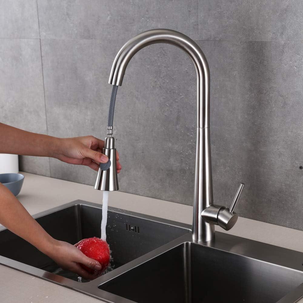 Höhe 16 mm Edelstahl Avior Home Wasserhahn 16° drehbar Küche