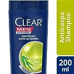 Shampoo Anticaspa Clear Men Controle e Alívio da Coceira 200 ML, Clear