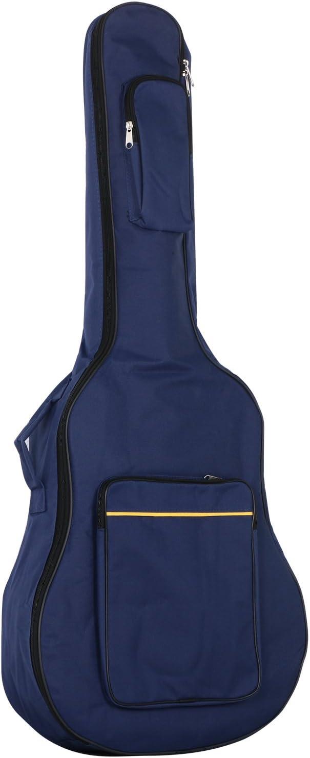 TRIXES Bolso de Guitarra de Tamaño Completo con Correas para Hombro - Funda Acolchada - Funda de Guitarra Clásica y Acústica - Azul