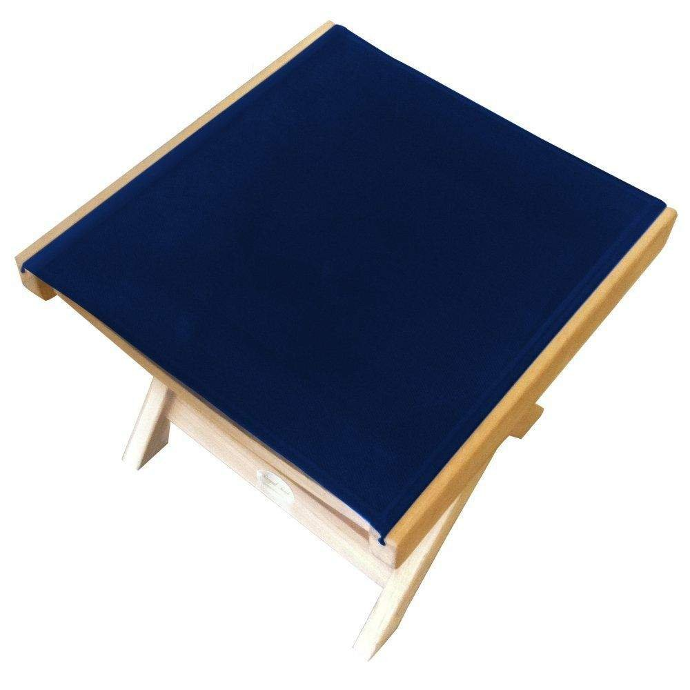 Royal Teak Collection FRNS Teak Sling Footrest, Navy