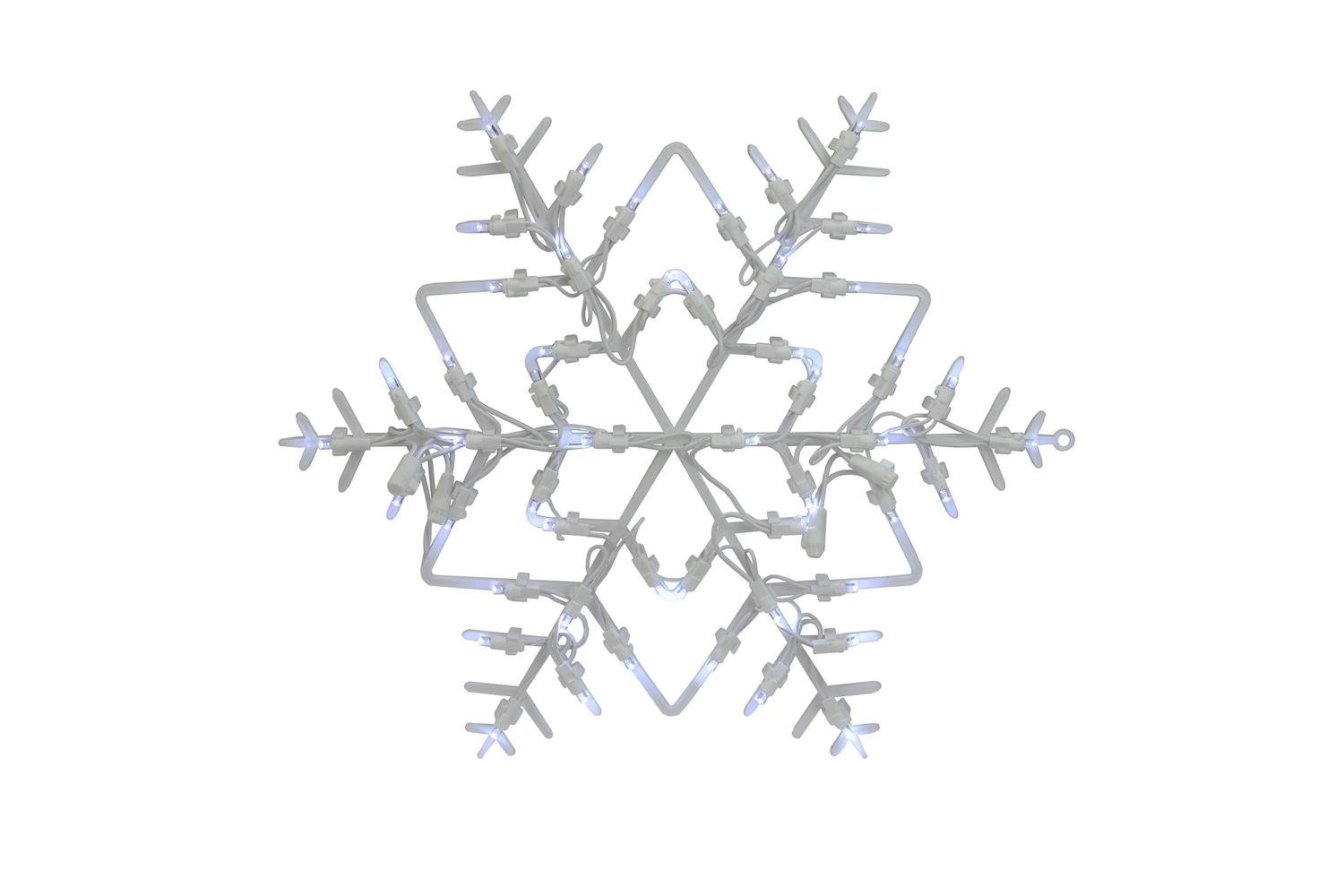 Northlight 18'' Lighted Snowflake Christmas Window Silhouette Decoration (Pack of 4)