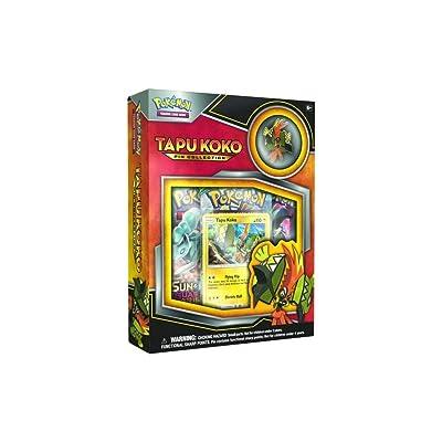 Pokemon TCG Tapu Koko Pin Collection Card Game: Toys & Games
