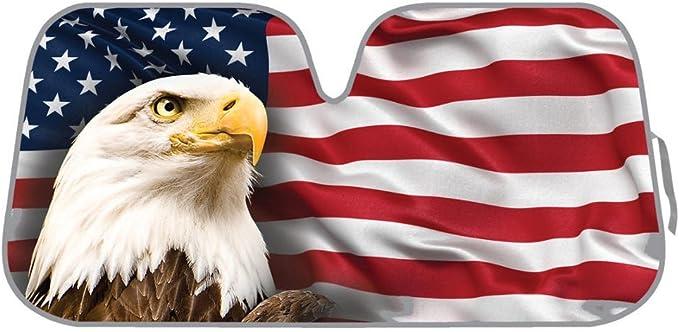 USA Eagle Flag Auto Sun Shade for Car
