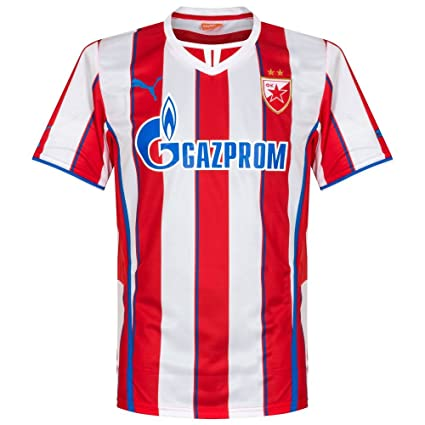 73daae06e Amazon.com   PUMA Red Star Belgrade Jersey Serbia Home 2013 14 ...