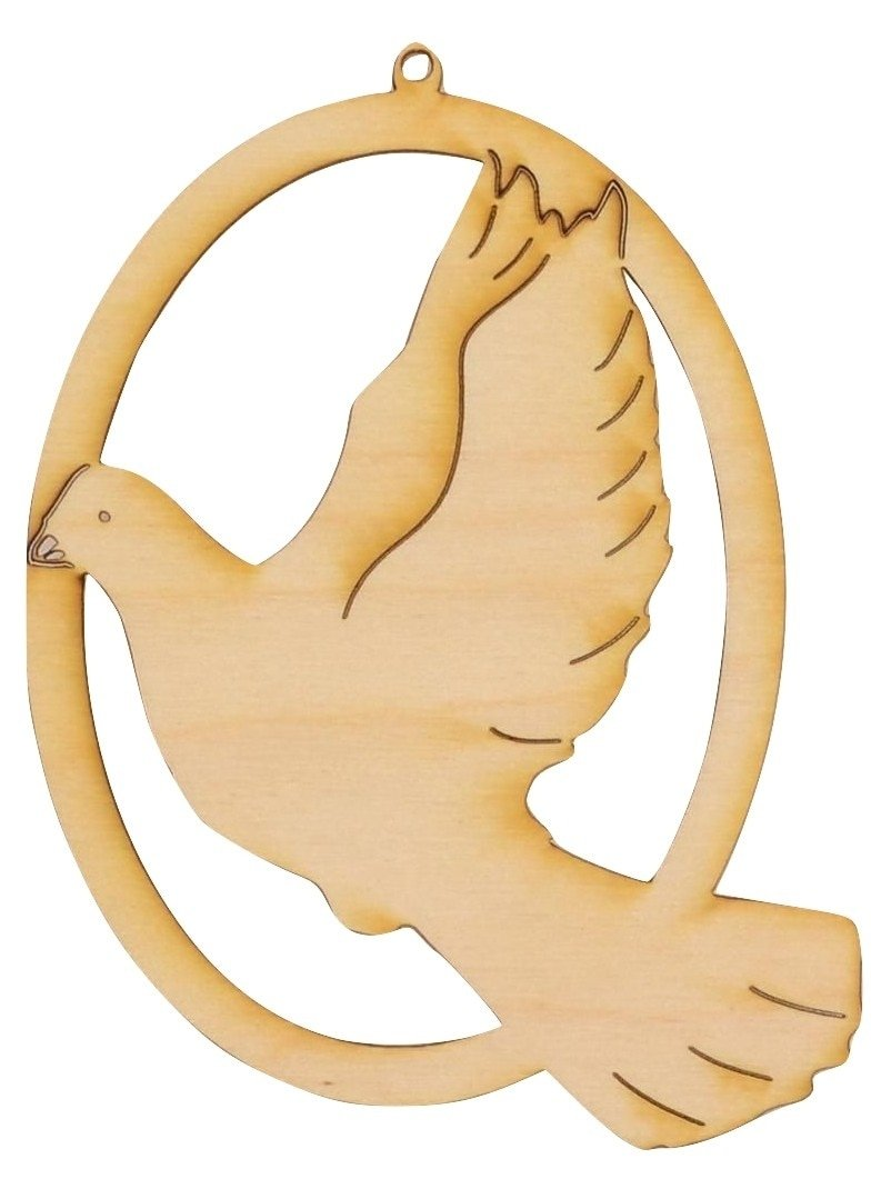 Wooden Dove Ornament/Package of 10
