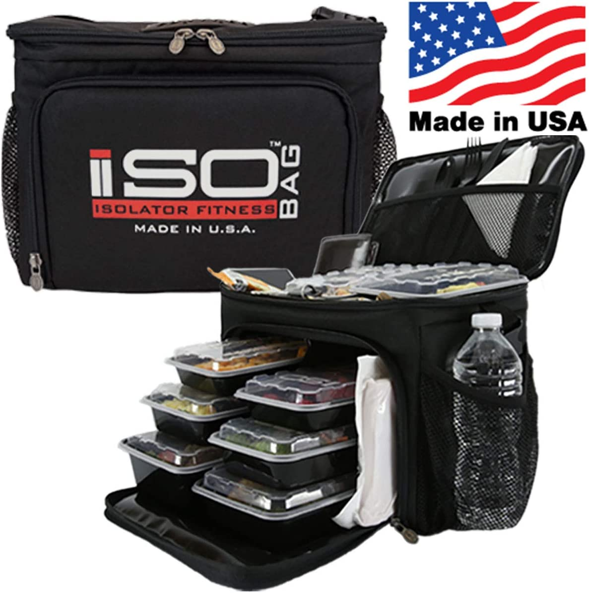 IsoCube 6 Meal Black/Red by Isolator Fitness: Amazon.es: Hogar