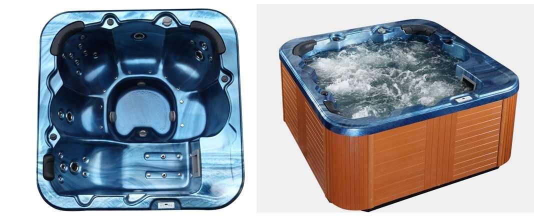 Outdoor Whirlpool Hot Tub Troja Spa Farbe Blau mit 44: Amazon.de ...