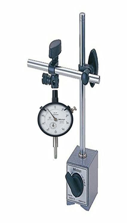 MAGNETIC STAND MITUTOYO 7010S-10 WITH MITUTOYO DIAL GAUGE 2046-S