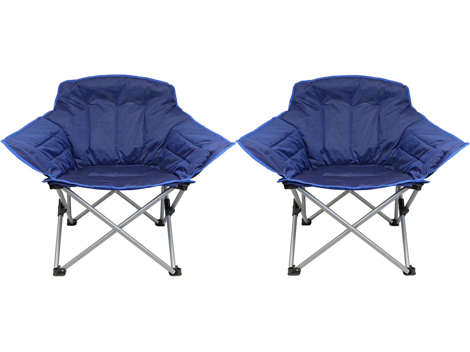 Zenithen Limited Guidesman Padded Folding Chair Blue, Pack of 2