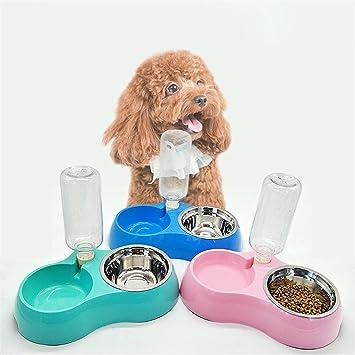 Mascota Bochas Agua Dispensador, por Pequeña Medio Grande Perro Gato Agua Comida Poseedor Perrito Gatito