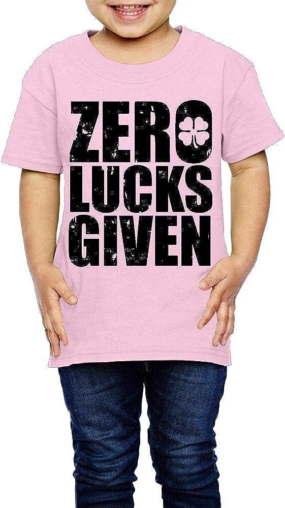 XYMYFC-E Zero Lucks Given ST Patricks Day 2-6 Years Old Kids Short Sleeve Tee Shirts