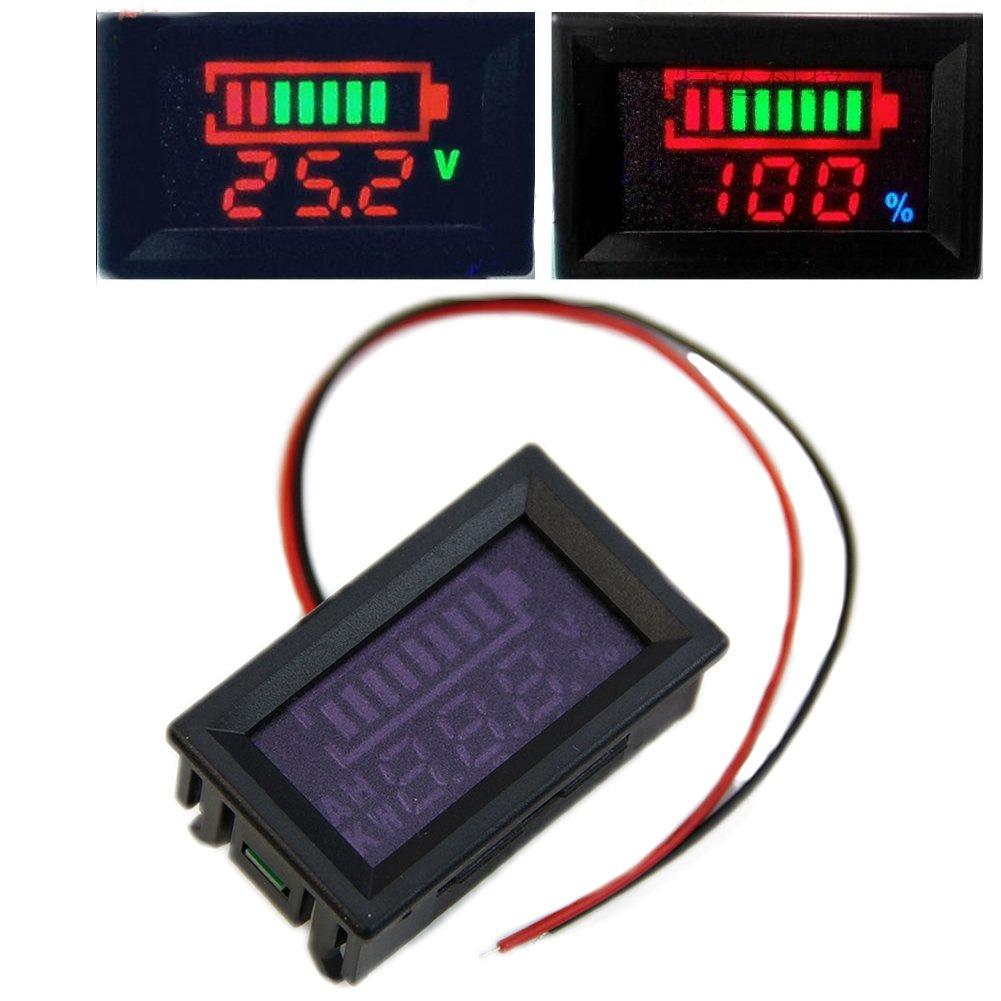Wrisky indicator Battery capacity digital LED Tester voltmeter 12v Acid lead batteries