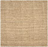 Safavieh Natural Fiber Collection NF447A Hand Woven Natural Jute Square Area Rug (4' Square)