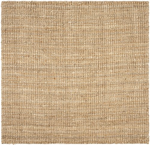 Safavieh Natural Fiber Collection NF447A Hand Woven Natural Jute Square Area Rug (6' Square) 6' Natural Area Rug
