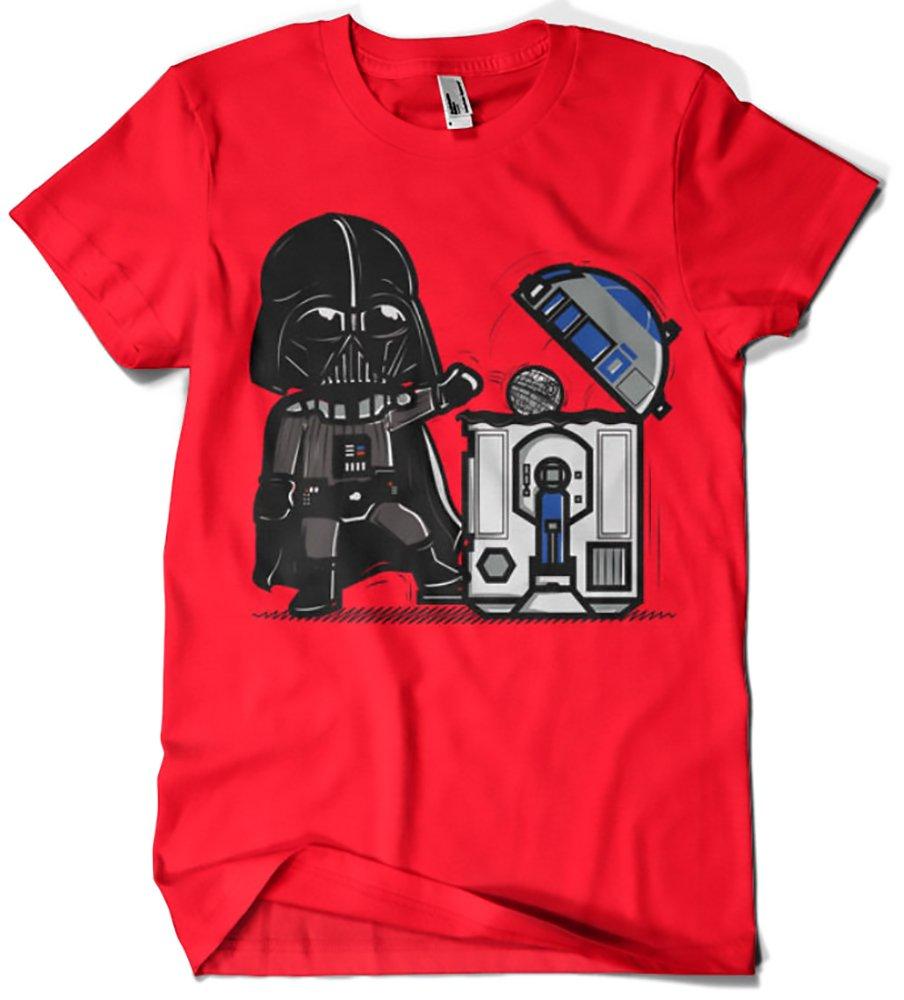 Camisetas La Colmena 209-Maglietta Parody Star Wars - Robotictrashcan (Donnie)