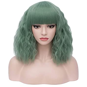 Amazon.com: Peluca de media melena (14 pulgadas) con cabello ...
