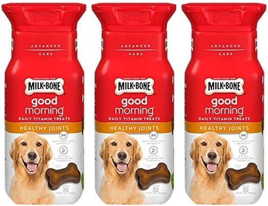 Milk-Bone Good Morning Daily Vitamin Treats Healthy Joints - Pack of 3, 6 Oz. Ea.