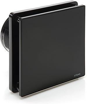 STERR - Negro extractor de baño Ventilador con temporizador ...