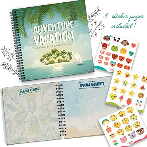 Destinations Scrapbook Stickers (Travel Journal For Vacations, A Great Memory Book For Bringing On Adventures! Fun In The Sun Edition)