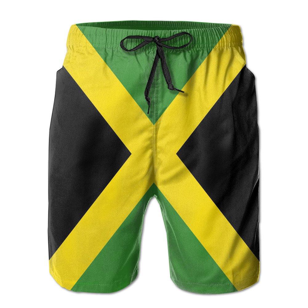 c0482dfdc80 Matthew Schrock Jamaica Flag Men's Swim Boardshorts Quick-dry Surf ...