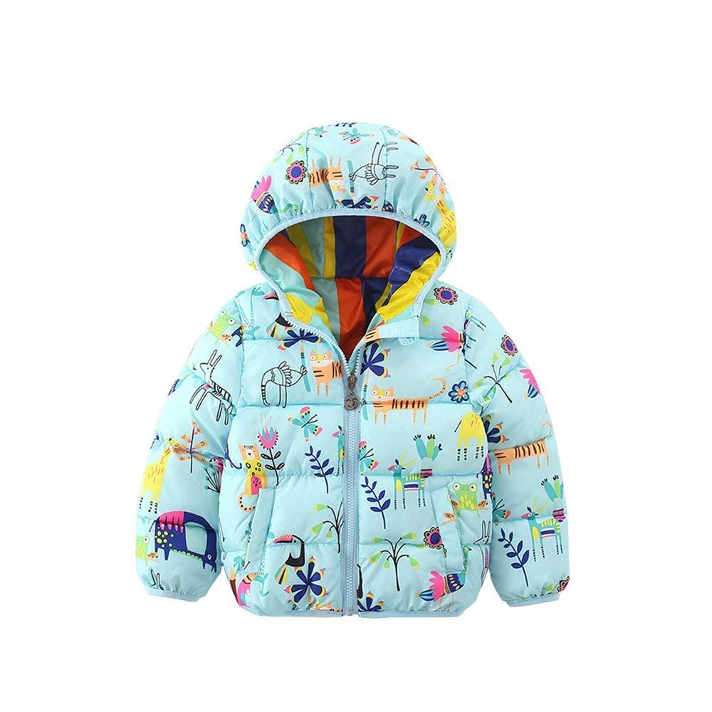 KAOKAOO Girls Coat Lightweight Warm Wear Winter Down Cotton Outfits Jacket Clothes
