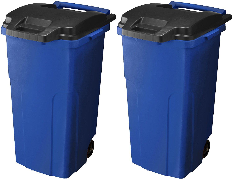 リス ゴミ箱 キャスターペール2輪 90C2 (90L) ブルー 2個セット B06XKRQB63ブルー