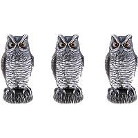 NON MagiDeal 3 Unids Búho Falcon Decoy Estatua Patio Jardín Cuervo Espantapájaros Al Aire Libre Disuasorio