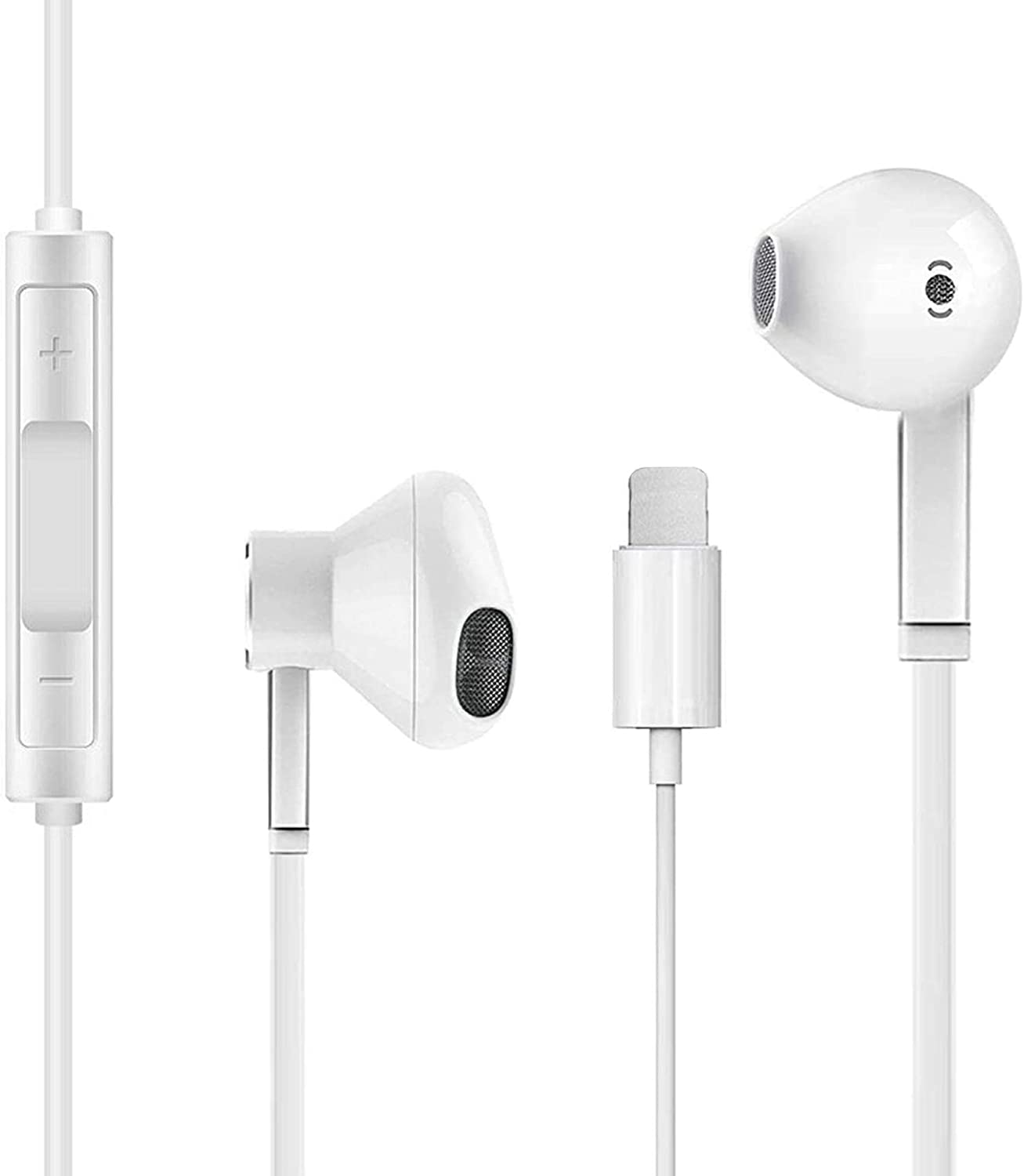 [Apple MFi Certified] iPhone Earphones, Wired Headphones Earbuds, with Built-in Mic & Volume Control, Compatible with iPhone 12/12 Pro/SE/11/11 Pro/XR/XS/8 Plus/7 Plus (White)