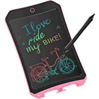 JRD&BS WINL Colorful LCD Writing Tablet for Kids Toys for 3-12 Years Old Girls, 8.5 inch Drawing and Writing Board with Lock Erase Button for Adults for School and Office(Pink)