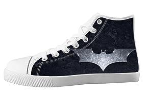 Custom High Top Lace Up Canvas Batman Individualized Design For Men's Shoes-8M(US)