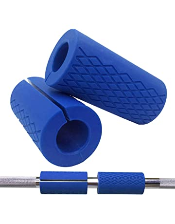 Greententljs Gym Bar Grips Silicone, fit Barbell Bars and Dumbbell Handles - Workouts Bar Up