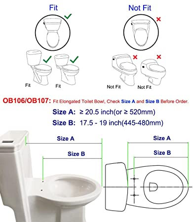 Hibbent Non Electric Bidet Toilet Seats With Cover   No Electricity  Bathroom Bidet Seat With Dual Nozzles Sprayer For Bidets And Rear Washing    Elongated ...