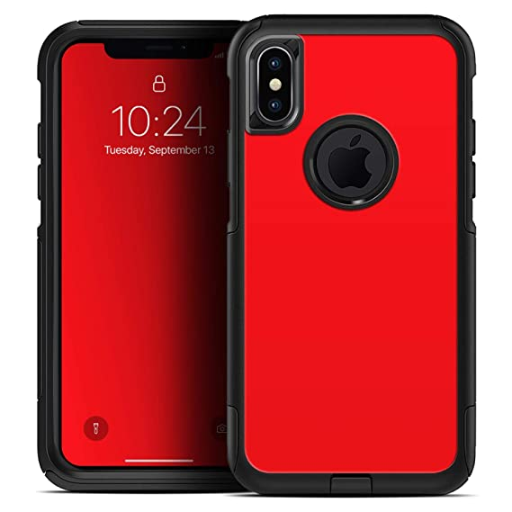newest 6cd90 6802d Amazon.com: Solid Red - Skin Decal Kit for The iPhone XR OtterBox ...