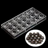 Grainrain Round Diamond Shaped Chocolate Candy Mould Polycarbonate PC DIY Mould Cookie Tray
