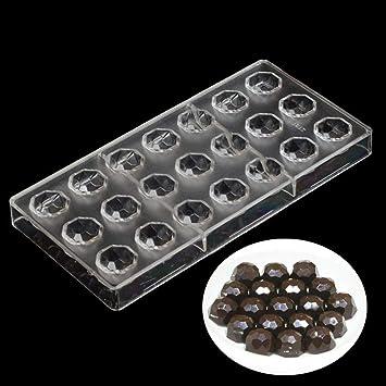 grainrain redondo Chocolate Candy molde de policarbonato en forma de diamante PC DIY molde para galletas bandeja: Amazon.es: Hogar