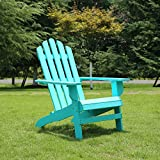 Azbro Outdoor Wooden Fashion Adirondack chair/Muskoka Chairs Patio Deck Garden Furniture,Turquoise