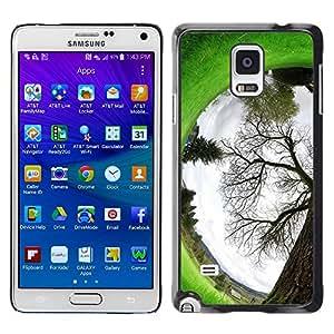 TopCaseStore / la caja del caucho duro de la cubierta de protección de la piel - Plant Nature Forrest Flower 94 - Samsung Galaxy Note 4 SM-N910