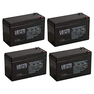 Universal Power Group 12V 7Ah Bruno Electra-Ride Stairlifts Battery MK Battery ES7-12 Replacement - 4 Pack : Sports & Outdoors