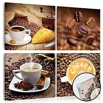 murando - Acrylglasbild Kaffee 80x80 cm - Glasbilder - Wandbilder ...