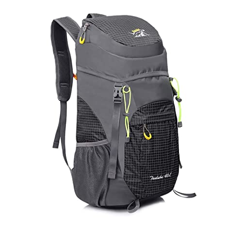 46bb1cb9375c AIRSSON Waterproof 40L Foldable Hiking Lightweight Backpack for Travel  Nylon Ultralight Durable Outdoor Climbing Daypack for Men&Women- Medium  Compact ...