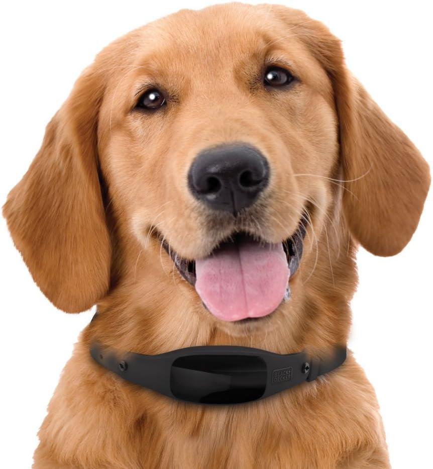 Black Med//Large BLACK+DECKER Smart Dog Collar Fits 15-21 neck GPS Tracker Water Resistant 2-Way Audio