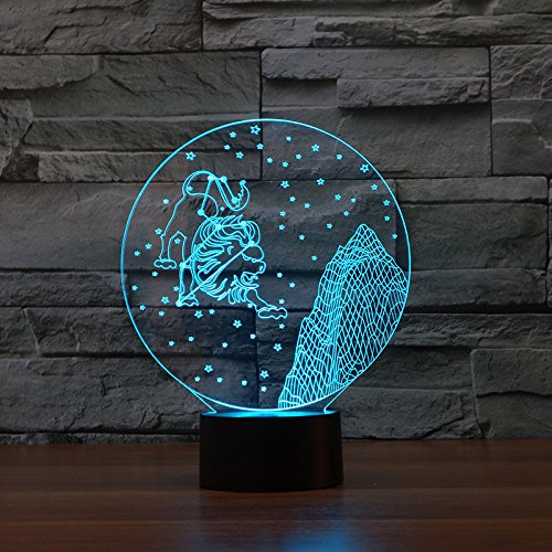 3Dx Night Light Constellation Shape Valentine's Day Gift Creative USB Touch...
