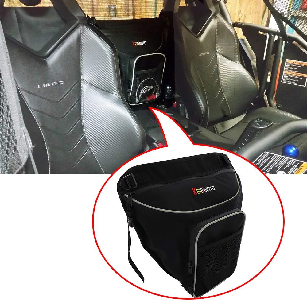 KEMIMOTO UTV Cab Pack Center Seat Shoulder Storage Bag for Can Am Commander 800 1000