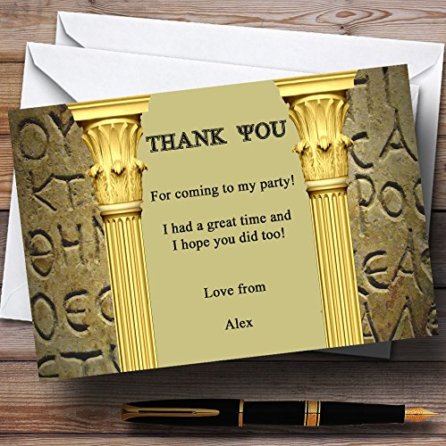 Ancient Greek Greece Toga Personalized Party Thank You Cards