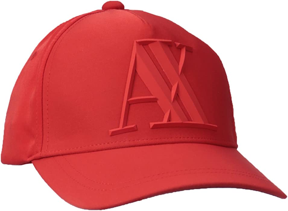 9e83313a758 Amazon.com  Armani Exchange Men s 3D Rubber AX Tonal Logo Hat ...