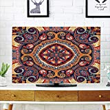iPrint LCD TV Cover Multi Style,Paisley Decor,Arabic Ornamental Rug Pattern Inspired Design